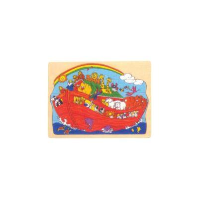 Noé bárkája fa puzzle