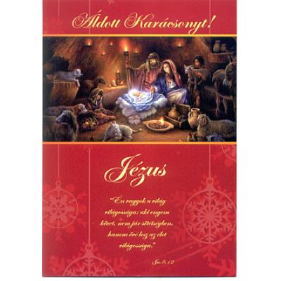 Karácsonyi nyílt képeslap