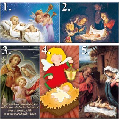 Mágneses szentkép - Karácsony