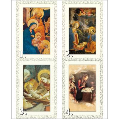 Karácsonyi borítékos aranyozott képeslap