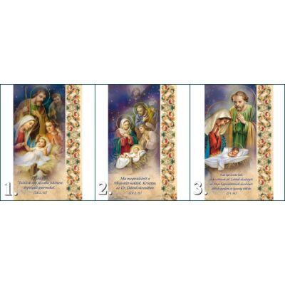 Karácsonyi aranyozott szentképek 10 db/cs