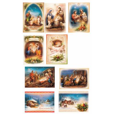 Karácsonyi képeslap 10 db/cs
