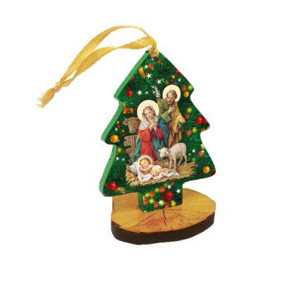 Karácsonyfadísz faplakett