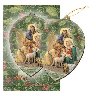 Karácsonyi képeslap - akasztható dísszel