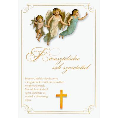 Borítékos képeslap keresztelőre