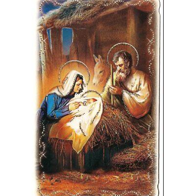 Karácsonyi aranyporos szentkép 20 db/cs