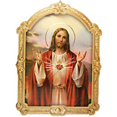 Faplakett Jézus szíve
