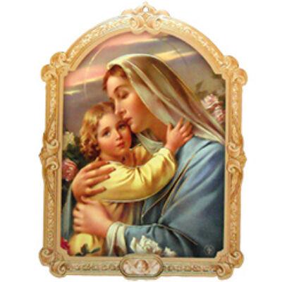 Faplakett Mária, kis Jézus