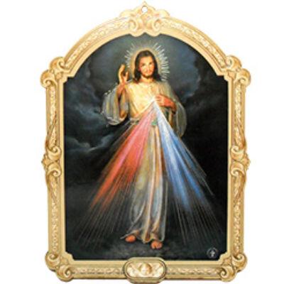 Faplakett Irgalmas Jézus