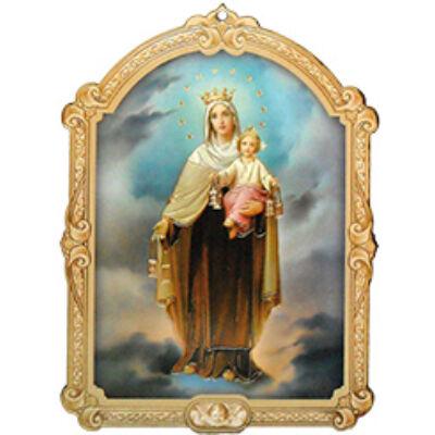 Faplakett Kármelhegyi Mária