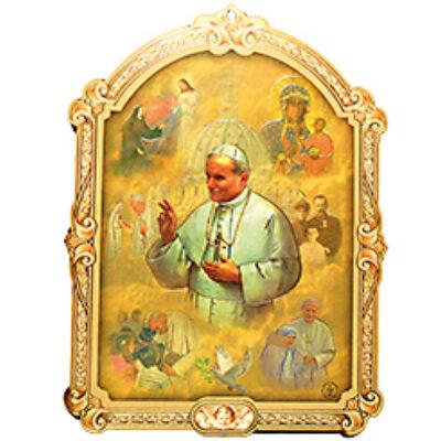 Faplakett II. János Pál Pápa