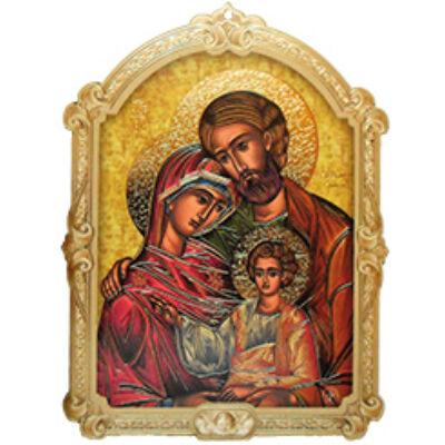 Faplakett Szent Család ikon