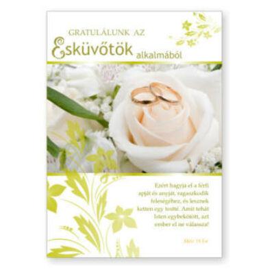 Borítékos képeslap esküvőre