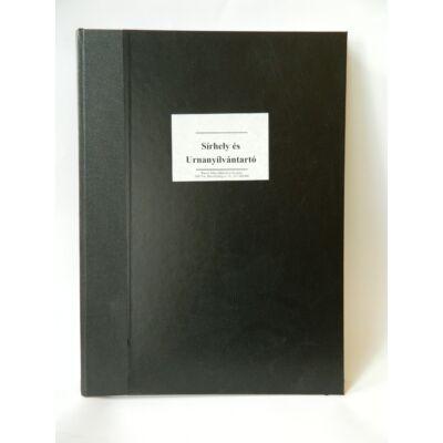 Temető nyilvántartó könyv