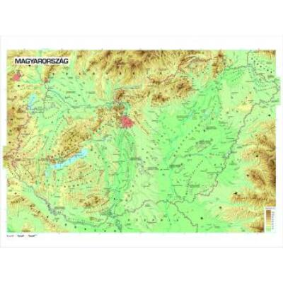 Magyarország közigazgatása falitérkép - kicsi, lécezett
