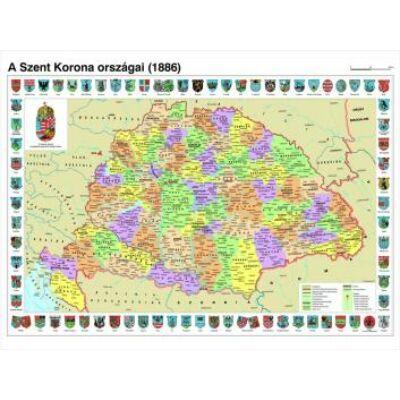Könyöklő - Szent Korona országai térkép
