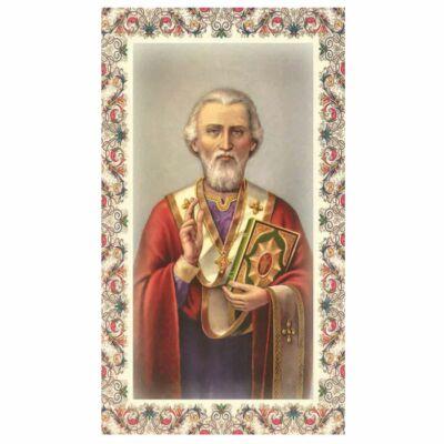 Szentkép - Szent Miklós - 25 darabos csomagban