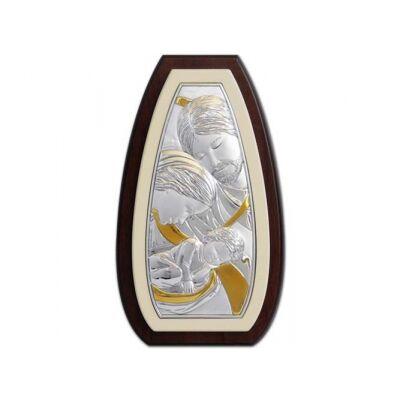 Ezüstplakett Szentcsalád képpel
