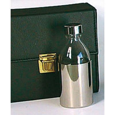 Fémházas üveg szentolaj tartó készlet 3 üveges