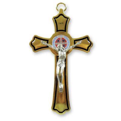 Szent Benedek fémkereszt nagy
