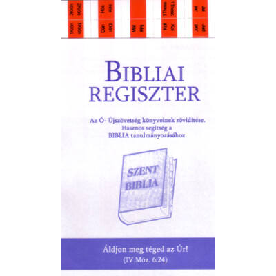 Biblia regiszter