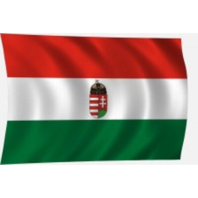 Címeres magyar zászló kicsi címerrel